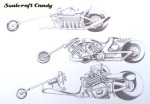 Soulcraftcandy dragster sketches.