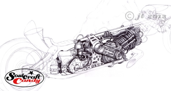 First Dragster drawing