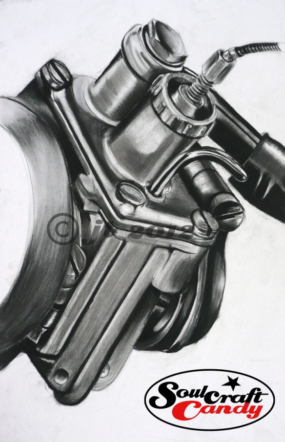 Cyclomotor carburettor.