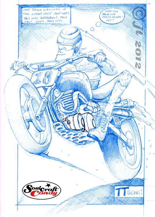 TT racer sketch