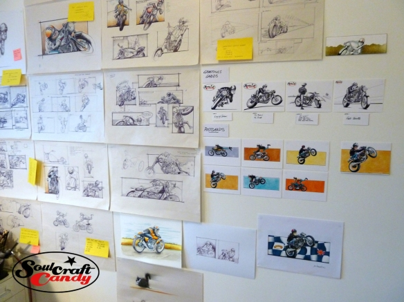 Soulcraftcandy ideas and sketch wall..
