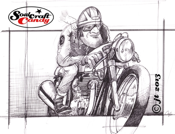 Cafe Racer sketch ©Soulcraftcandy 2013