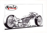 Dragster cartoon©JonTremlett2013 at Soulcraftcandy